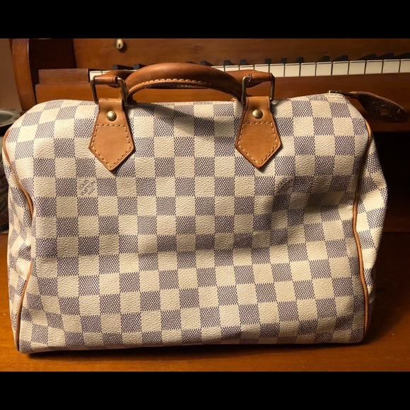 6a767e2b7873 Louis Vuitton Handbags - Louis Vuitton Damier Azur Speedy 30